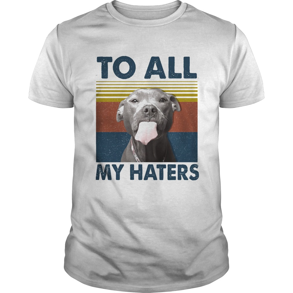 To all my haters Pitbull vintage retro