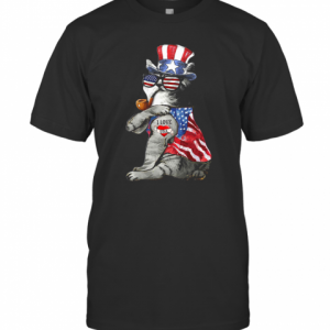 Uncle Sam Cat Tattoo I Love US Happy The 4Th Of July T-Shirt Classic Men's T-shirt