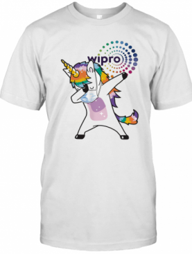 Unicorn Mask Wipro Logo T-Shirt