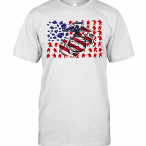 United States Marine Corps American Flag Veteran Independence Day T-Shirt Classic Men's T-shirt