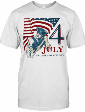 Vintage Fourth 4Th July Independence Day American Flag T-Shirt