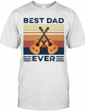Vintage Guitar Best Dad Ever T-Shirt