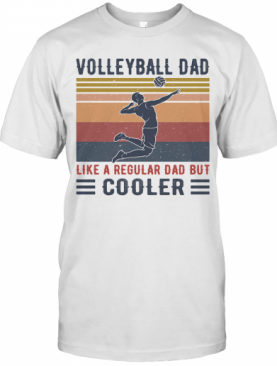 Volleyball Dad Like A Regular Dad But Cooler Vintage Retro T-Shirt