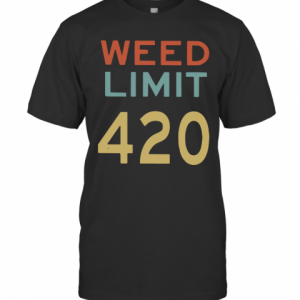 Weed Limit 420 T-Shirt Classic Men's T-shirt