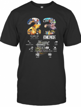 23 Years Of 1997 2020 More 980 Chapter One Piece Signatures T-Shirt