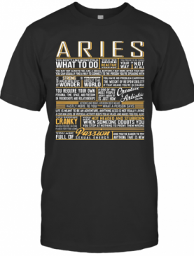 Aries What To Do Wonder World Cranky Paddion T-Shirt