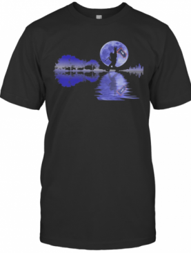 Bigfoot Flag River Moon Tree T-Shirt