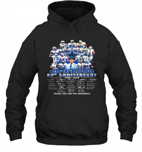 Dallas cowboys football team 60th anniversary 1960 2020 thank you for the memories signatures  T-Shirt Unisex Hoodie