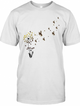 Dandelion Flower University Of Wyoming Athletics Hearts T-Shirt