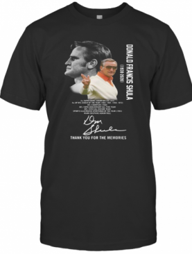 Donald Francis Shula Thank You For The Memories Signatures T-Shirt