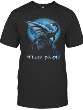 Dragon And Skull I Hate People T-Shirt