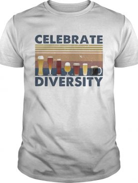 Drinks celebrate diversity vintage retro shirt