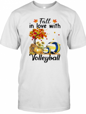 Fall In Love With Volleyball T-Shirt