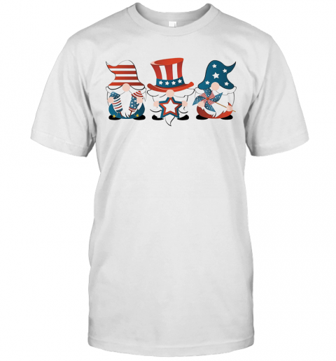 Gnomes America 4Th Of July Independence Day Stars T Shirt Classic Mens T shirt