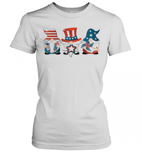Gnomes America 4Th Of July Independence Day Stars T-Shirt Classic Women's T-shirt