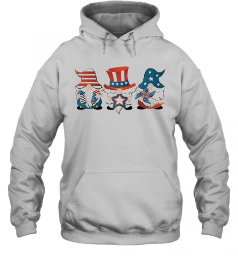 Gnomes America 4Th Of July Independence Day Stars T-Shirt Unisex Hoodie