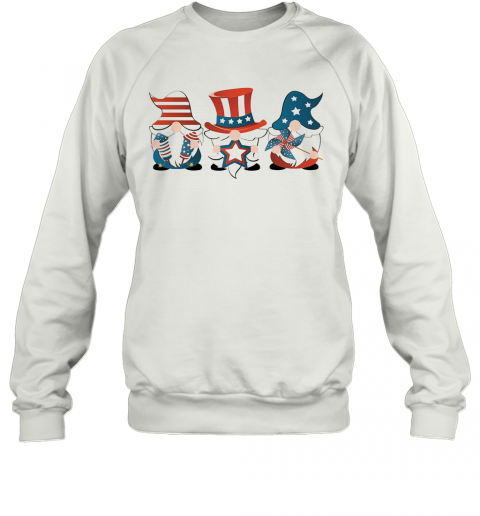 Gnomes America 4Th Of July Independence Day Stars T-Shirt Unisex Sweatshirt