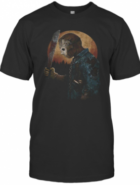 Halloween Michael Myers Holding Knife Moon T-Shirt