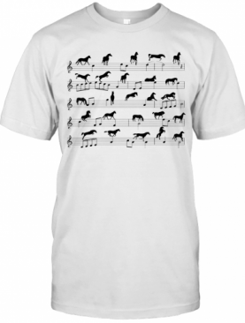 Horse Notes On Sheet Music T-Shirt