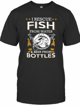 I Rescue Fish From Water And Beers From Bottles Bubble Star T-Shirt