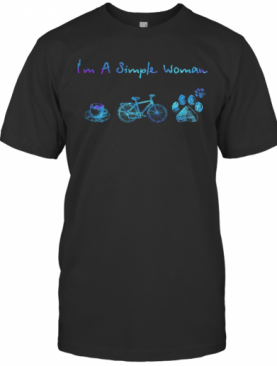 I'M A Simple Woman Coffee Bicycle Paws T-Shirt