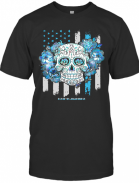 Independence Day Festival Of Death Skull Diabetes Awareness T-Shirt