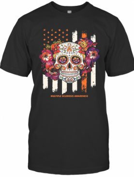 Independence Day Festival Of Death Skull Multiple Sclerosis Awareness T-Shirt
