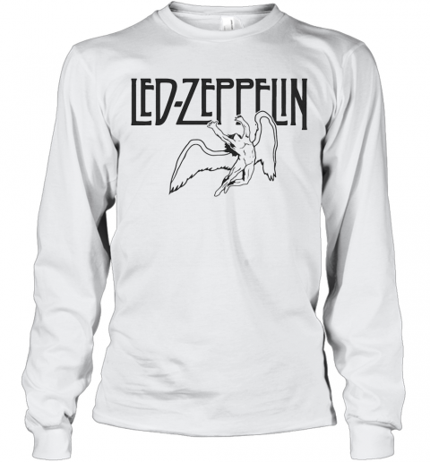 Led Zeppelin Swan Song Wings T-Shirt Long Sleeved T-shirt