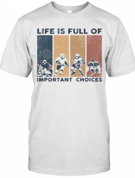 Life Is Full Of Important Choices Golfball Vintage Retro T-Shirt