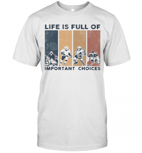 Life Is Full Of Important Choices Golfball Vintage Retro T Shirt Classic Mens T shirt