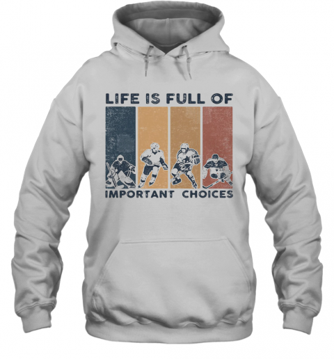 Life Is Full Of Important Choices Golfball Vintage Retro T-Shirt Unisex Hoodie
