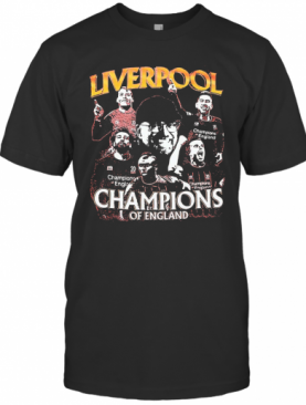 Liverpool Champions Of England Players T-Shirt