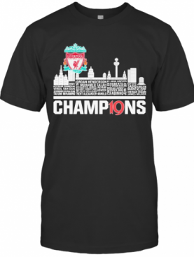 Liverpool Football Club Logo Champions City T-Shirt