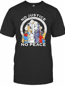 Marvel Heroes No Justice No Peace Black Lives Matter T-Shirt