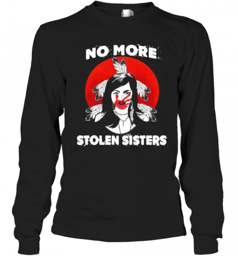 No More Stolen Sisters Sunset Feather T-Shirt Long Sleeved T-shirt
