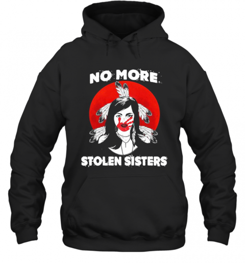 No More Stolen Sisters Sunset Feather T-Shirt Unisex Hoodie