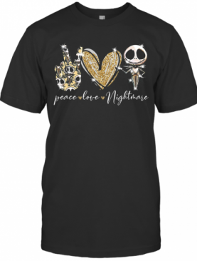 Peace Love Nightmare Skellington Diamond T-Shirt