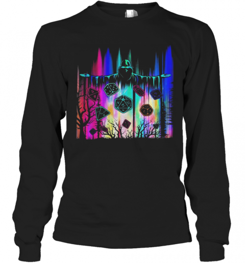 Polyhedron Blocks The Man In Black Color T-Shirt Long Sleeved T-shirt