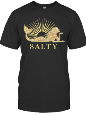 Salty Mermaid Yellow Radiate T-Shirt
