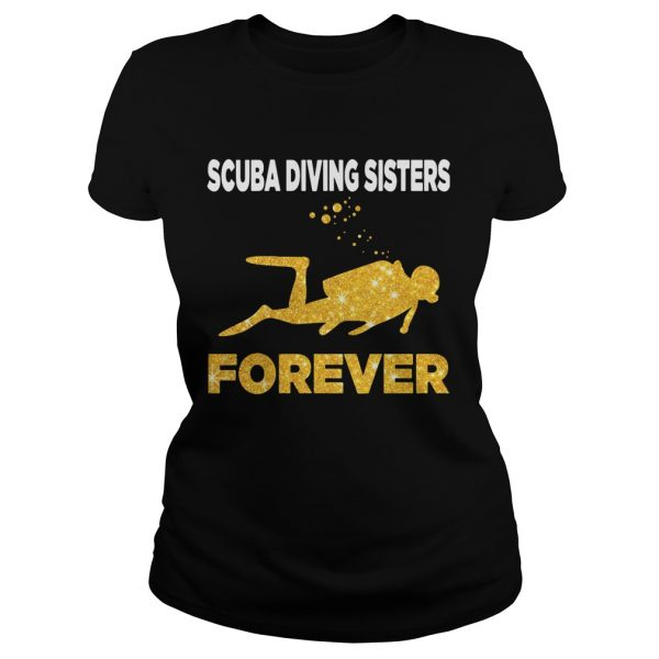 Scuba Diving Sisters Forever White Yellow  Classic Ladies