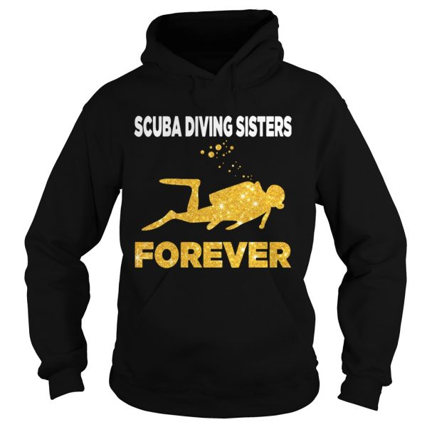 Scuba Diving Sisters Forever White Yellow  Hoodie