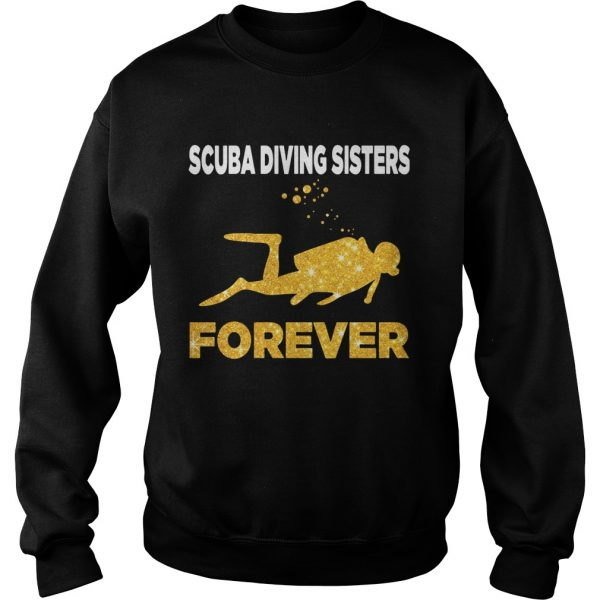 Scuba Diving Sisters Forever White Yellow  Sweatshirt