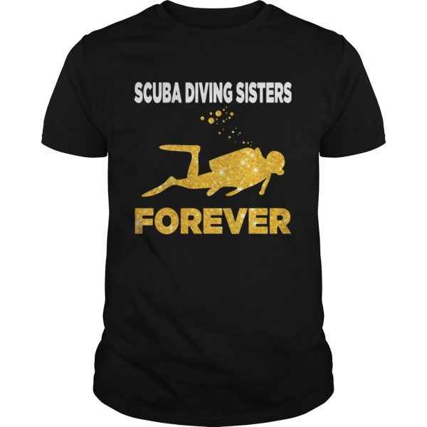 Scuba Diving Sisters Forever White Yellow  Unisex