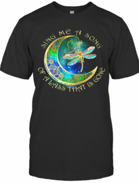 Sing Me A Song Of A Lass That Is Gone Moon Dragonfly T-Shirt