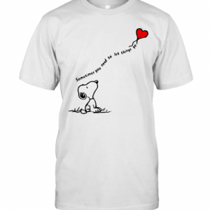 Snoopy Sometimes You Need To Let Things Go Hearts T-Shirt Classic Men's T-shirt