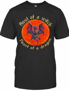 Soul Of A Witch Heart Of A Dragon Moonblood T-Shirt