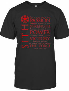 Star Wars SITH Quotes T-Shirt