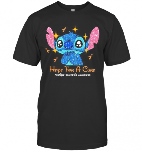 Stitch Hope For A Cure Multiple Sclerosis Awareness T Shirt Classic Mens T shirt