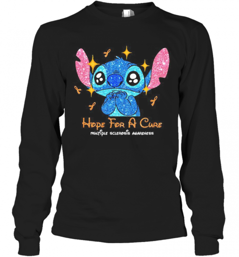 Stitch Hope For A Cure Multiple Sclerosis Awareness T-Shirt Long Sleeved T-shirt