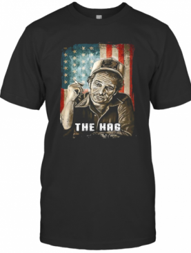 The Hag Smoking American Flag Independence Day T-Shirt